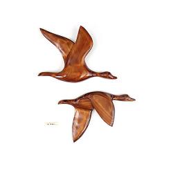 Le vol du colvert en bois noble 45 cm-(L'exemplaire)
