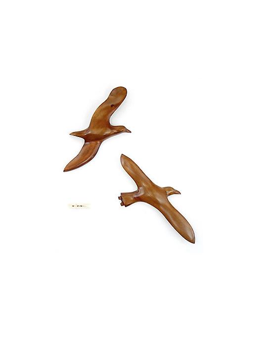 Le vol de l'albatros en bois noble 40 cm
