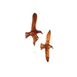 Le vol du goeland en bois noble 60 cm - (L'exemplaire)