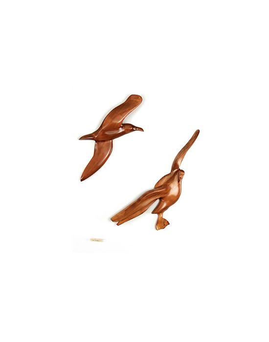 Le vol de l'albatros en bois noble 60 cm