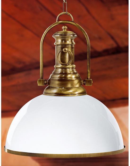 Luminaire de luxe Madeira opaline laiton massif - 43cm -