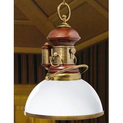 Luminaire de luxe Greenville opaline laiton massif - 33cm -