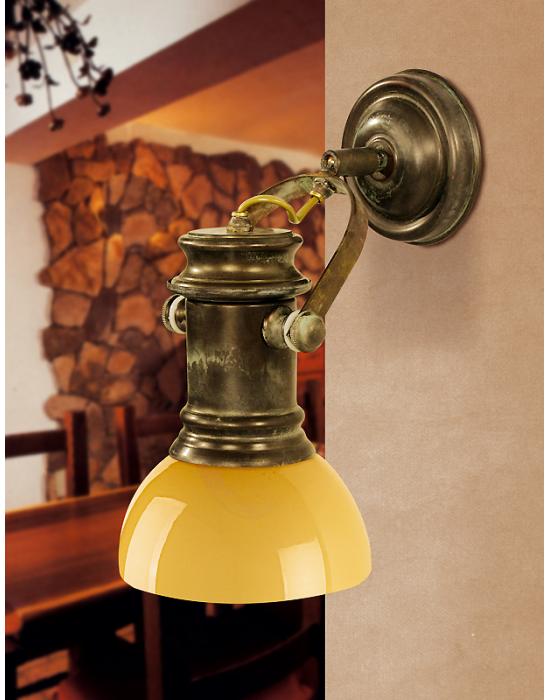 Luminaire de luxe Spotisland opaline et laiton massif - 23cm -
