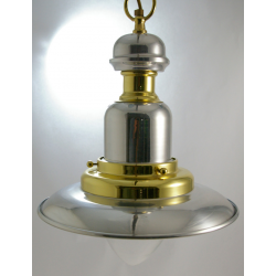 Luminaire marin laiton - Suspension Inox et Laiton -