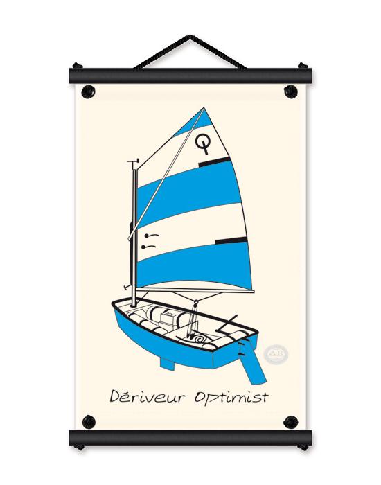 L'Optimist - bleu -