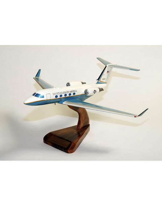 Maquette avion du Gulfstream III C-20 USAF en bois