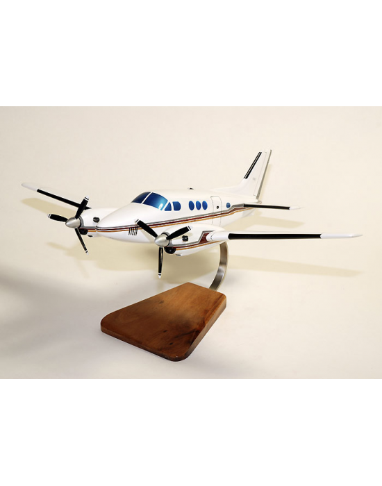 Maquette avion Beechcraft 90 King Air Cilvil en bois