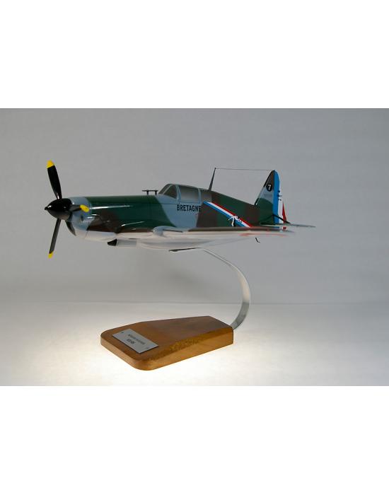 Maquette avion Morane Saulnier 406 en bois