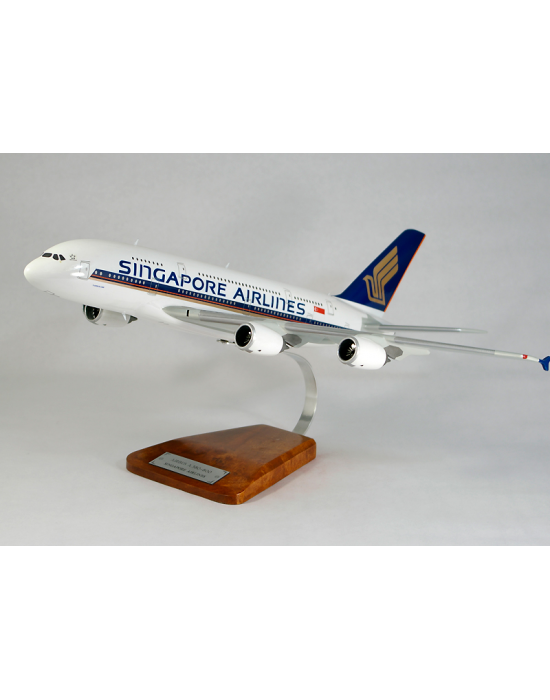 Maquette avion Airbus A380-800 Singapore Airlines en bois