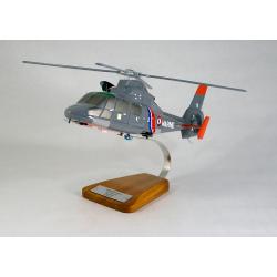 Maquette hélicoptère Eurocopter SA-365N Dauphin en bois