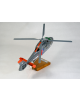 Maquette helicoptere Eurocopter SA-365N Dauphin en bois