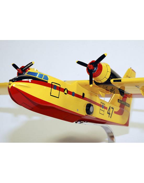 Maquette Canadair CL215 Sécurité Civile en bois