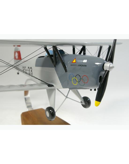 Maquette avion Bücker Jungmann BU 131 en bois