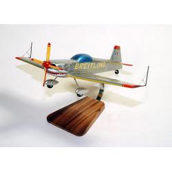 """Maquette avion Breitling Cap 232 """"Shark Silver en bois"""