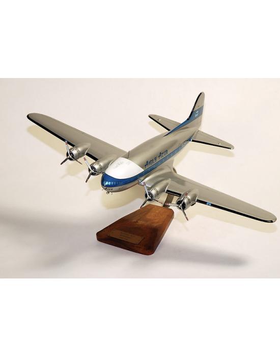 Maquette avion Boeing 307 Stratoliner Aigle Azur en bois