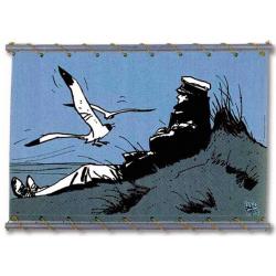 Toile Corto Maltese de Hugo Pratt - Corto Dune Bleu -