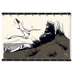 Toile Corto Maltese de Hugo Pratt - Corto Dune Ecru -