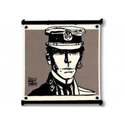 Toile Corto Maltese de Hugo Pratt - Portrait -