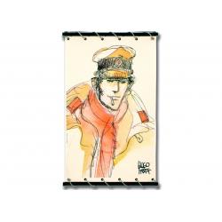 Toile Corto Maltese de Hugo Pratt - Echarpe rouge -