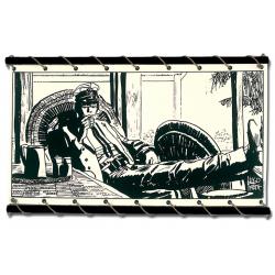 Toile Corto Maltese de Hugo Pratt - Reflexion -