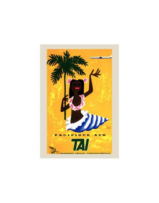 Affiche Air France / Pacifique Sud