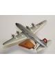 Maquette avion Douglas DC4 Swissair en bois