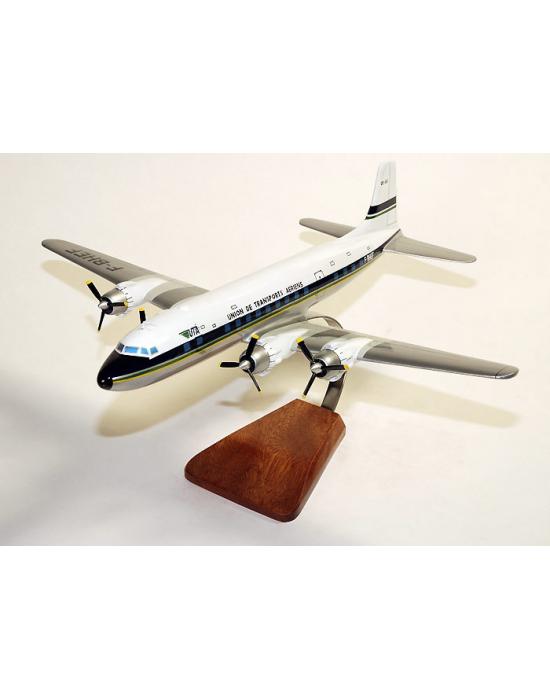 Maquette avion DC-6 UTA en bois