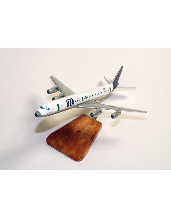 Maquette avion Douglas DC8-62 UTA en bois