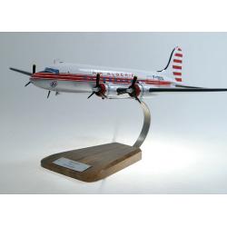 Maquette avion Douglas DC4 Air Algerie en bois
