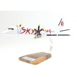 Maquette avion Saab 2000 Skyways en bois