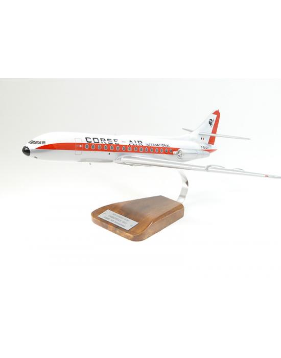 Maquette avion Caravelle 6 Corse Air en bois