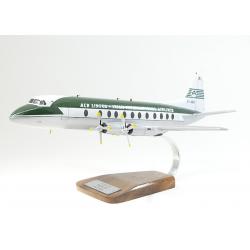 (Prochain arrivage début octobre) Maquette avion Vickers 808 Viscount AER Lingus en bois