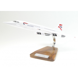 Maquette avion Concorde British Airways en bois