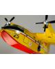 Maquette Canadair CL415T Protezione Civile en bois