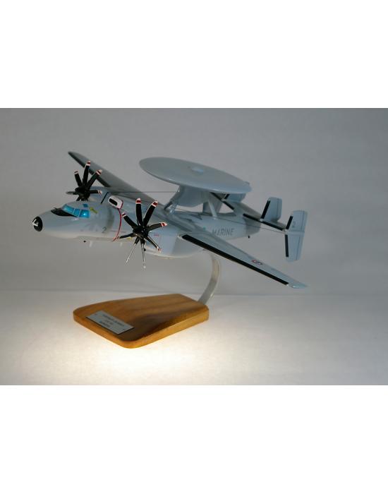 Maquette avion Grumman E2 Hawkeye Aeronavale en bois