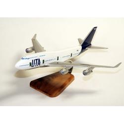 Maquette avion Boeing 747/4B3 UTA ''Big Boss''-F-GEXA en bois'