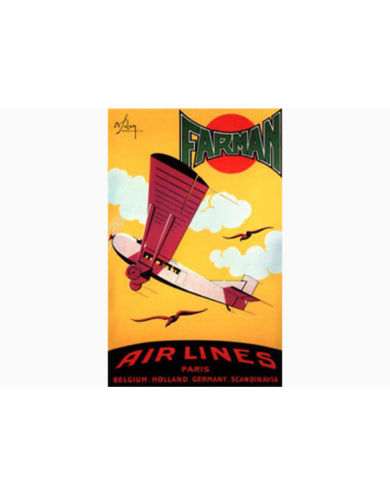 Affiche Air France / Airlines - Farman