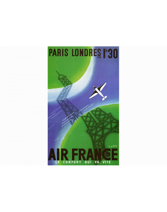Affiche Air France / Paris - Londres 2