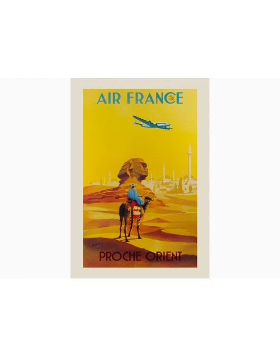 Affiche Air France / Proche Orient (Jaune)