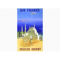 Affiche Air France / Proche Orient (bleu)