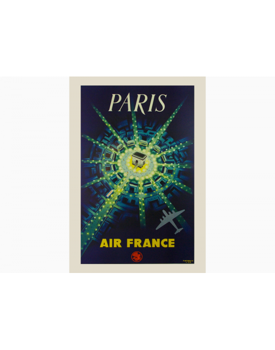 Affiche Air France / Paris Air France