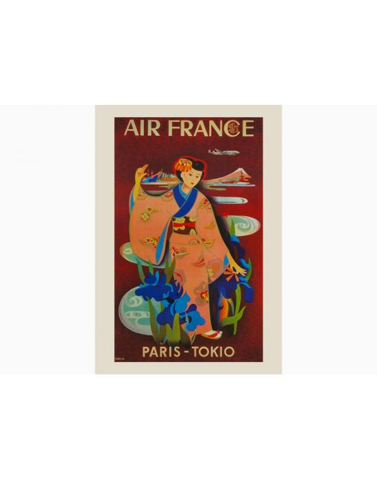 Affiche Air France / Paris - Tokio