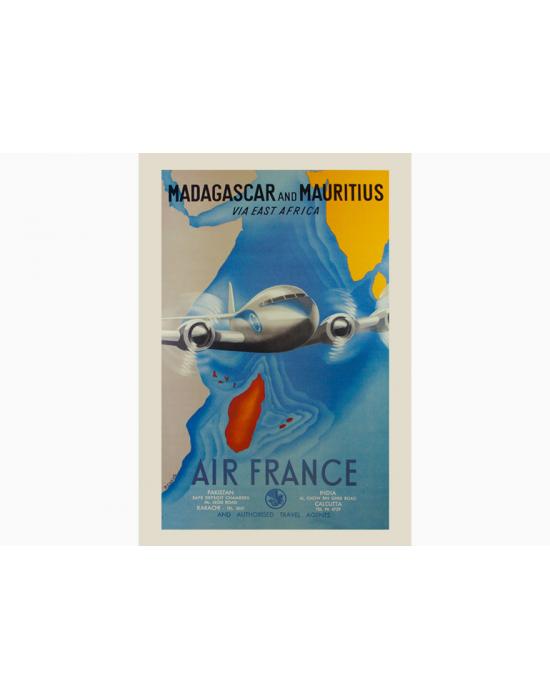 Affiche Air France / Madagascar & Mauritius