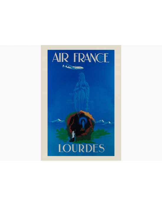 Affiche Air France / Lourdes