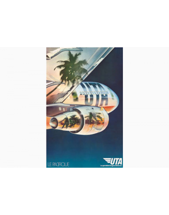 Affiche Air France / UTA Pacifique