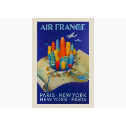 Affiche Air France / Paris New York Paris