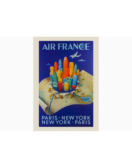 Affiche Air France / Paris New York Paris