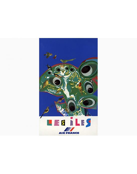 Affiche Air France / Les Iles