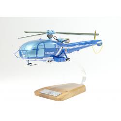 Maquette hélicoptère Alouette 3 SE319 en bois