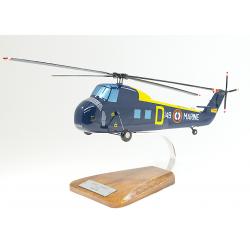 Maquette hélicoptère Sikorsky H 34 en bois